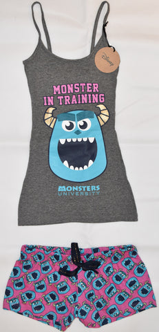 PRIMARK Monsters Inc University Vest & Shorts Set PJ PYJAMAS UK Sizes 4 to 8