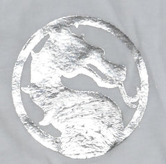 Mortal Kombat T Shirt Scorpion 100% Cotton Silver Foil Mens UK Sizes M to XXXL