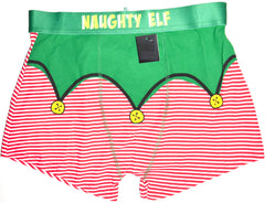 Naughty Elf Pants Mens Boxer Christmas Xmas Santa Underwear UK Sizes M to XXL