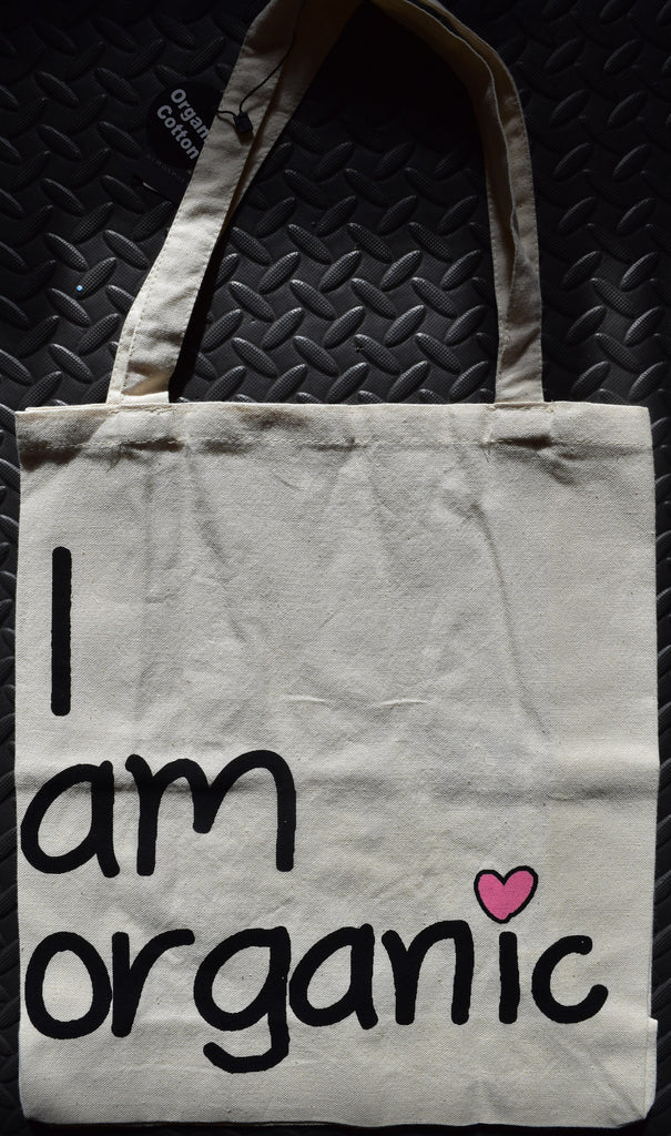 Primark 'I Am Organic' CANVAS TOTE SHOPPER SHOPPING SHOULDER BAG BNWT - Click. Buy. Love. - 1