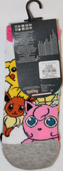 PRIMARK Pokemon Shoe Liners Pikachu Jigglypuff Squirtle 3pk Womens Size 4-8 NEW