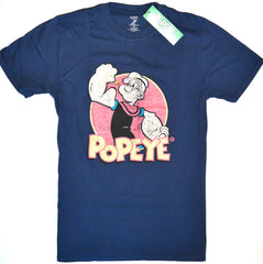 Popeye T Shirt Mens Primark 100% Cotton Faded Retro Cartoon UK Sizes M to XXL