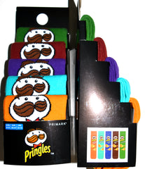 Pringles Socks Primark USA Flavours Mens 5 Pack UK Sizes 6 to 8 or 9 to 12