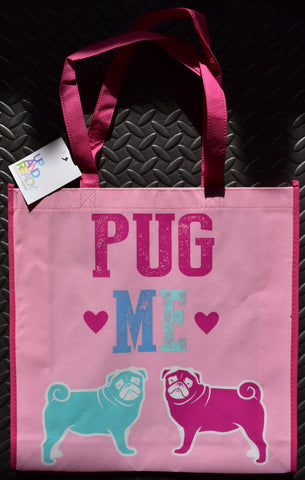 Pug Me Pug Dog TOTE SHOPPER SHOPPING SHOULDER BAG WIPE CLEAN Up And Ready BNWT - Click. Buy. Love. - 1