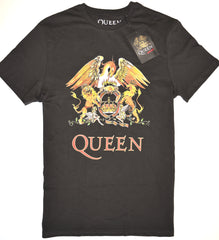 Queen T Shirt Mens Primark 100% Cotton Rock Band Charcoal Grey UK Sizes M to XXL