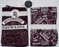 PRIMARK HARRY POTTER PJ Quidditch HOGWARTS Pyjamas Burgundy UK Sizes 4 - 20 NEW