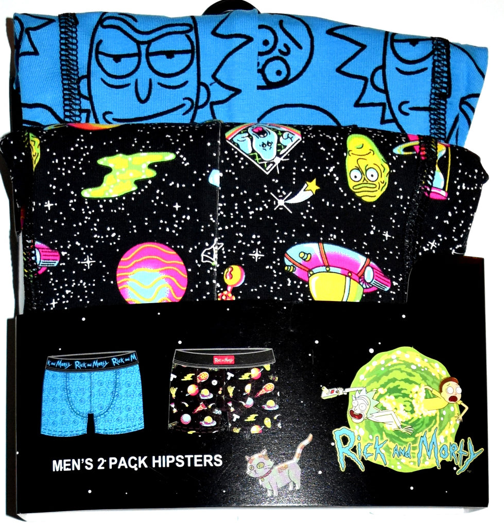 Rick and Morty Pants 2 Pack Primark Mens Underwear Hipster UK Sizes M - XXL