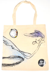 Road Runner Canvas Tote Bag 100% Cotton Looney Tunes WB Shopping Shoulder BNWT