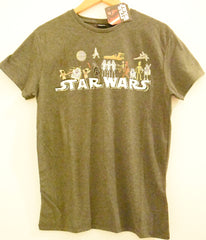 Primark Star Wars Mens T Shirt Cartoon Darth Vader R2D2 Han Chewie UK XS-XXL - Click. Buy. Love. - 2