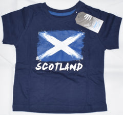 Boys Scottish Flag T-Shirt Saltire St Andrews Cross NAVY PRIMARK Sizes 1-8 years