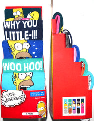 The Simpsons Socks Primark Homer Mens 5 Pack UK Sizes 6 to 8 or 9 to 12