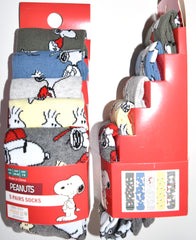 Peanuts Snoopy Socks Primark Woodstock Mens 5 Pack UK Size 6 to 8 or 9 to 12