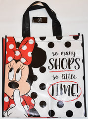 Minnie Mouse Disney TOTE BAG Shops SHOPPER SHOPPING SHOULDER WIPE CLEAN BNWT
