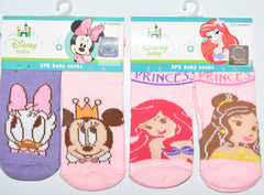 Disney Baby Socks Princess' Minnie Mouse Daisy Duck Girls Babies Ages 0 - 12 months