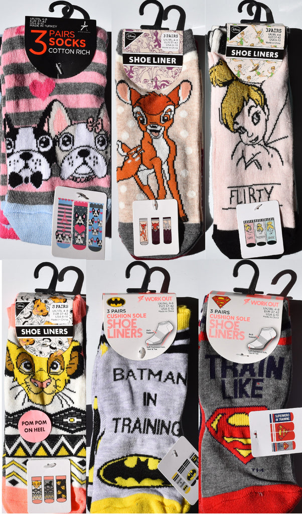 Lion King Shoe Liner Women/'s Disney Socks UK 4-8 Primark