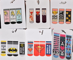 PRIMARK Women's Socks Shoe Liners Bambi Tinkerbell Lion King Superman Batman - Click. Buy. Love. - 2