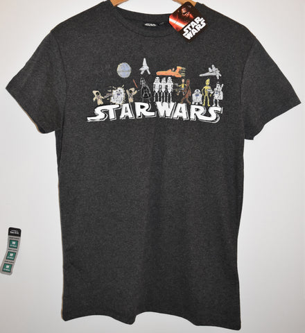 Primark Star Wars Mens T Shirt Cartoon Darth Vader R2D2 Han Chewie UK XS-XXL - Click. Buy. Love. - 1