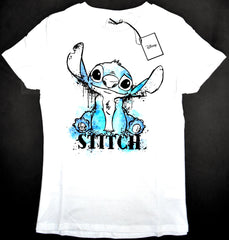 Stitch T Shirt Primark Disney 100% Cotton Womens Ladies Lilo UK Sizes 6 to 24
