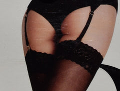 PRIMARK SEXY LACE TOPPED STOCKINGS BNWT Fashion Suspender Small Medium or Large - Click. Buy. Love. - 3