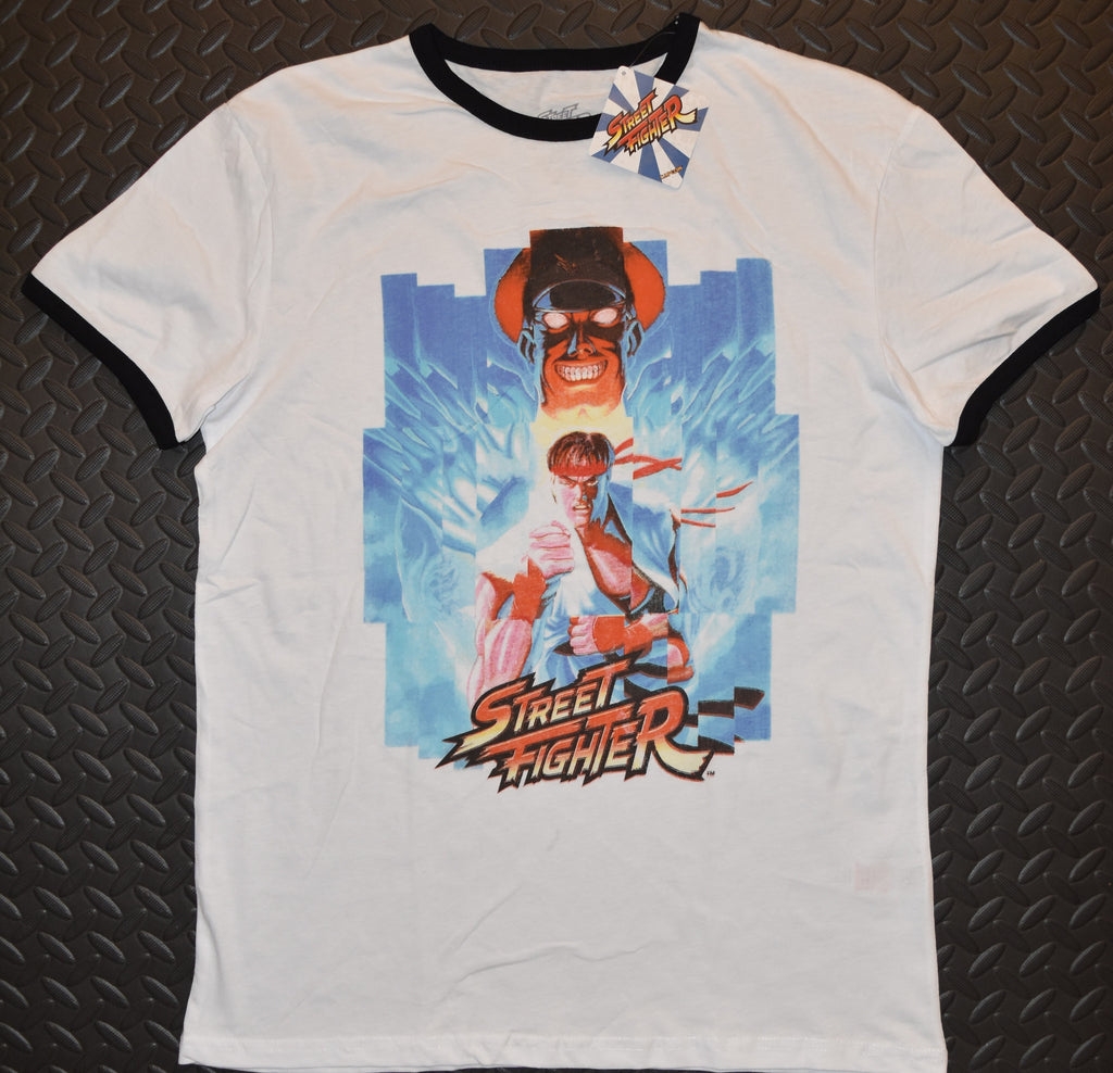 Primark Street Fighter MENS T SHIRT Ryu & M Bison Retro NEW UK Sizes XS - XXL