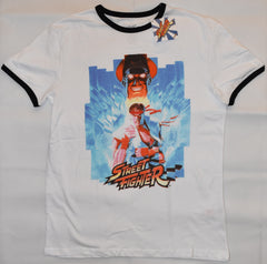 Primark Street Fighter MENS T SHIRT Ryu & M Bison Retro NEW UK Size XXL