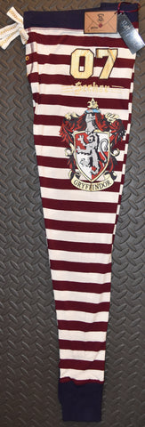 PRIMARK HARRY POTTER PJ Bottoms Gryffindor Burgundy Stripe UK Sizes 6 - 20 NEW