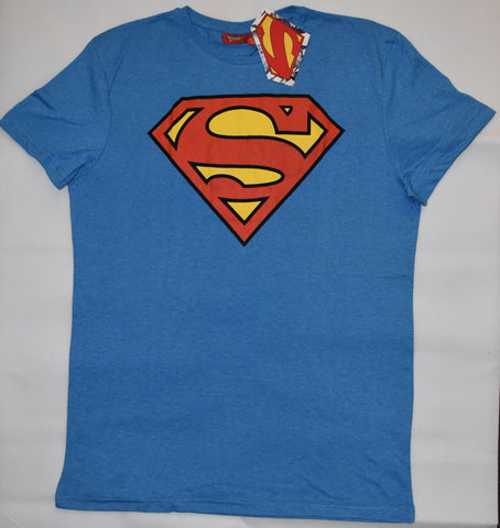 Primark Superman MENS T SHIRT DC Comics Blue Red & Yellow NEW UK Sizes XS - XXL