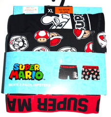 Super Mario Pants Mens Primark 2 Pack Hipster SNES Underwear Sizes M to XXL