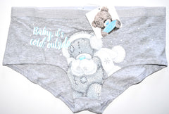 Tatty Teddy Knickers Panties Cold Outside Underwear Women Ladies Sizes 10 to 20