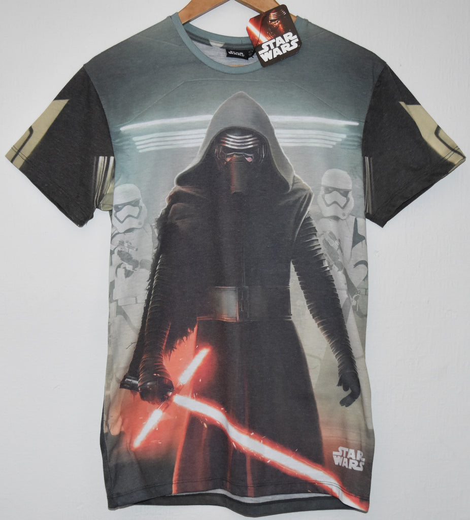 Primark Star Wars Mens T Shirt Kylo Ren Storm Troopers On Back UK - Click. Buy. Love. - 1