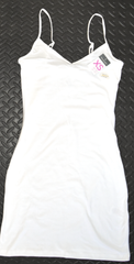 Primark Long Vest Top Ladies Girls Cami Dress Stretch Strap White Size 6 to 20