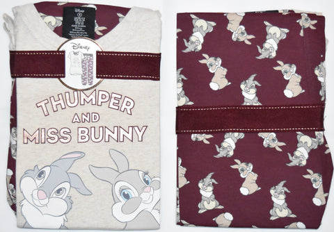 PRIMARK Thumper PJ DISNEY Pyjamas Miss Bunny Burgundy UK Sizes 4 to 20