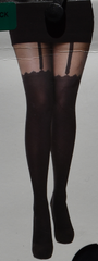 SEXY FASHION TIGHTS Suspender Magic Heart Ripped Ribbed S/M or L/XL BNWT PRIMARK - Click. Buy. Love. - 2