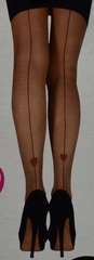 SEXY FASHION TIGHTS Suspender Magic Heart Ripped Ribbed S/M or L/XL BNWT PRIMARK - Click. Buy. Love. - 7