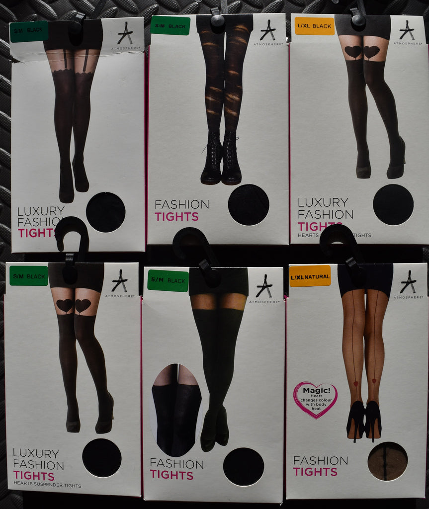 c7c80ce0a ... SEXY FASHION TIGHTS Suspender Magic Heart Ripped Ribbed S M or L XL  BNWT ...