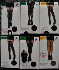 SEXY FASHION TIGHTS Suspender Magic Heart Ripped Ribbed S/M or L/XL BNWT PRIMARK - Click. Buy. Love. - 1