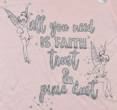 PRIMARK Tinkerbell T Shirt DISNEY Womens Faith Trust Pixie Dust UK Sizes 6 - 16