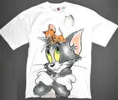 Tom and Jerry T Shirt Primark Oversized 100% Cotton Womens Ladies Size 10 to 12