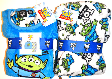 Boys Toy Story PJs Primark Alien Pyjamas Fleece Childrens Kids Age 7 to 11 Years