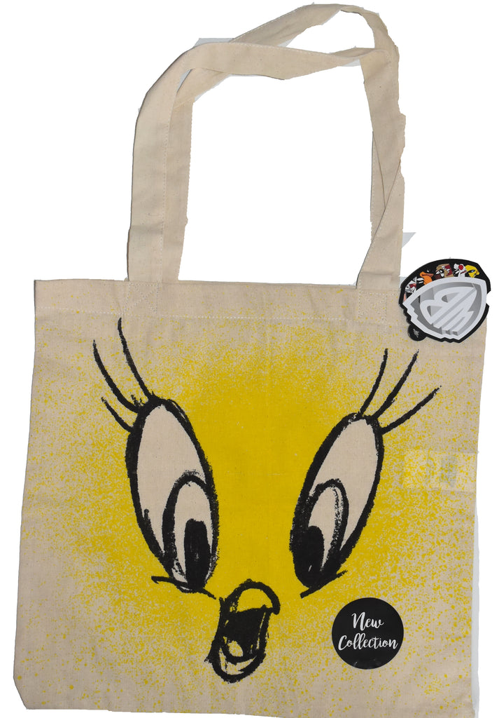 Tweety Pie Canvas Tote Bag 100% Cotton Looney Tunes WB Shopping Shoulder BNWT