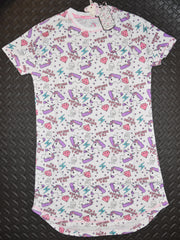 Unicorn PRIMARK NIGHTIE T Shirt I'm A Unicorn Emoji PJ Sizes 4 - 20 NEW