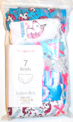 Girls Knickers Primark 7 Pairs Unicorn Teen Girls Briefs Age 18M to 5 Years