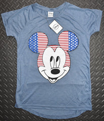Primark Mickey Mouse T Shirt Disney Womens USA Flag Ladies UK Sizes 6-20 NEW - Click. Buy. Love. - 2