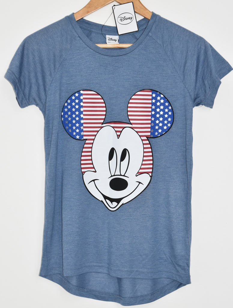 Primark Mickey Mouse T Shirt Disney Womens USA Flag Ladies UK Sizes 6-20 NEW - Click. Buy. Love. - 1