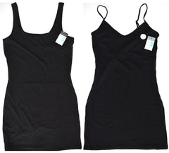 Primark Vest Top Ladies Girls Long Cami Dress Stretch Strap Black Size 6 to 20