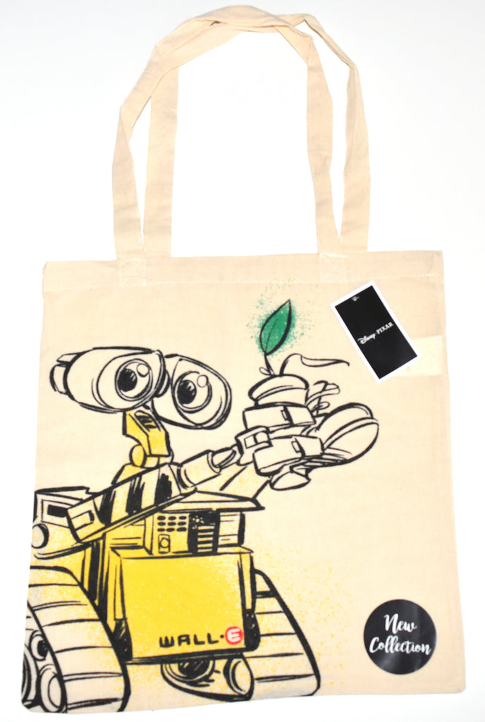 Wall E Canvas Tote Bag 100% Cotton Disney Robot Walle Shopping Shoulder BNWT