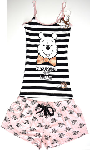 Primark Winnie The Pooh Bear PJ Vest & Shorts Ladies Womens Pyjamas Set - Click. Buy. Love. - 1