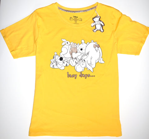Pooh Bear T Shirt Primark Disney Winnie The Pooh 100% Cotton Ladies UK 6 to 16