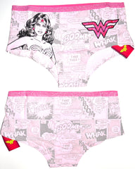Wonder Woman Knickers Panties Underwear Pink Women Ladies UK Sizes 10 to 22