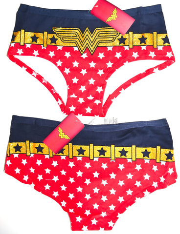 Wonder Woman Knickers Panties Underwear Red Blue Women Ladies UK Size 6 to 20
